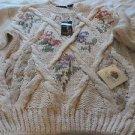 RAFFERTY Handknit Sweater NWT Small Soft Chunky Ski Juniors Cream Multi