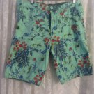 NWT MG BLACK LABEL SHORTS GREEN FLOWER FLORAL  HAWAIIAN TAG SIZE 33