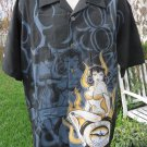 DRAGONFLY SHIRT  N.SIXX CLOTHING PIN UP Betty Paige LARGE With Tag RARE