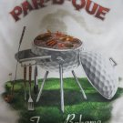 TOMMY BAHAMA TEE SHIRT RELAX  WHITE PAR B QUE XXXLGOLF CLUB BALL 3XL