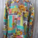 XL  Giorgio DANIELI Shirt HAWAIIAN Vintage NWT Retro Floral Abstract