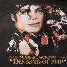 MICHAEL JACKSON TEE The King Of Pop 1958-2009 In Loving Memory Shirt BLACK NEW