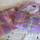 DAIZIES FLOWERS BY ZOE Flannel Cozy PJ Sleepwear PURPLE PLAID NEW Victoria MED