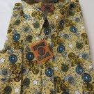 DAGACCI Mens Dress Shirt Perma Press Polyester STAR GOLD Peach Skin NEW M-2XL