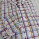 Wrangler George Straight  Check Plaid Cowboy Cut Western Shirt Men's M
