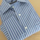 DONALD TRUMP Signature Collection Men Dress Shirt French Cuff BLUE White15 32/33