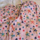 NITE NITE MUNKI MUNKI PJ Sleepwear FLANNEL BOTTOMS PINK Gum Drops Ginger Bread S