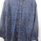 BRANDOLINI  Shirt Blue on black 3XL Print