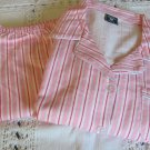 DAIZIES FLOWERS BY ZOE Flannel Cozy PJ Sleepwear Pink Candy Stripe Victoria MED