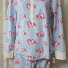 PJ Couture Pajama's Sleepwear Blue Foxes  LARGE JRs. NEW SOFT