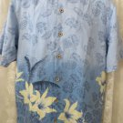 TOMMY BAHAMA SILK  SHIRT  Blue Hawaiian Vintage Wash SMALL Camp Shirt