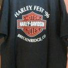 HARLEY DAVIDSON TEE BLACK XXXL Vintage RK STRATMAN 96 HARLEY FEST Eagle DENVER