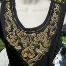 Carol LITTLE P/L Highlite Nights Black Beaded Calf Sweater DRESS NWT $109.00