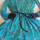 MUNKI MUNKI NITE-NITE XL NEW One Pc Jumper Romper gown PJS Blue Green Giraffe
