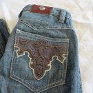 "ANTIK DENIM JEANS SIZE 26 X 30""  POCKETS Flare Western Cut  Saddle Back"