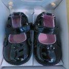 STRIDE RITE ROBEEZ Ms PLAINE JANE BLACK SIZE 2 3-6 Mos Black Patent Leather NIB