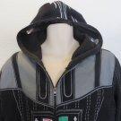 STAR WARS HOODIE Lucas Films Full Zip Faced Hooded Black LARGE Costume Darth