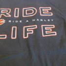 HARLEY DAVIDSON TEE BLACK XXL Vintage Meet you at Santa Cruz  Ride a Harley Life
