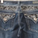 L A IDOL JEANS Embellished Distress Flap Pocket NEW Size 5  33 Length BLING