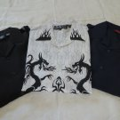 Dragonfly SHIRTS LARGE Button Down Lot of 3 NEW  Embroidered Dragon  Hawaiian