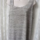 CHICO'S EASY WEAR blouse tee Size 3 Stripe XL/16 NWOT Tank