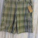 Mens Shorts SOFICH Brand Shorts 38 Woven Plaid Shorts NWT Green Check