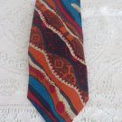COOGI AUSTRALIA TIE Silk Hand Made VIBRANT NECKWEAR MULTI COLOR