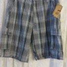 Mens Shorts SOFICH Brand 38 Woven Plaid Short NWT GREY MULTI Check