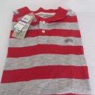 AMERICAN RAG  CIE POLO RUGBY GOLF Shirt Mens Red Sunbelt Stripe NWT