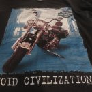 HARLEY Davidson TEE  Large  Vintage 1977 Avoid Civilazation