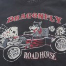 DRAGONFLY ROADHOUSE TEE SHIRT Black Wolf Hot Rod Cards Dice NEW XL Rock & Roll
