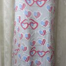 MUNKI MUNKI NITE NITE Night gown Sleepwear Rid White Blue Glasses NEW M