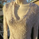 ROXY KNIT TOP SWEATER BLOUSE HOODIE Sexy Open Weave Cotton BLEND MEDIUM