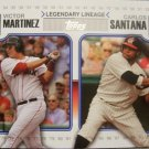 2010 Topps Update Legendary Lineage #LL63 Victor Martinez/Carlos Santana