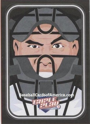2012 Panini Triple Play Stickers #4 Catchers Mask