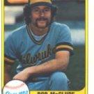 1981 Fleer #520 Bob McClure