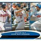 2012 Topps #192 Chipper Jones/Albert Pujols/Andruw Jones LDR