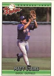 1992 Donruss Rookies 112 Matt Stairs RC