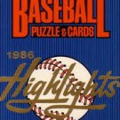 1986 Donruss Highlights Complete Set