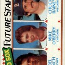 1980 Topps 662 Joel Finch/Mike O'Berry RC/Chuck Rainey RC