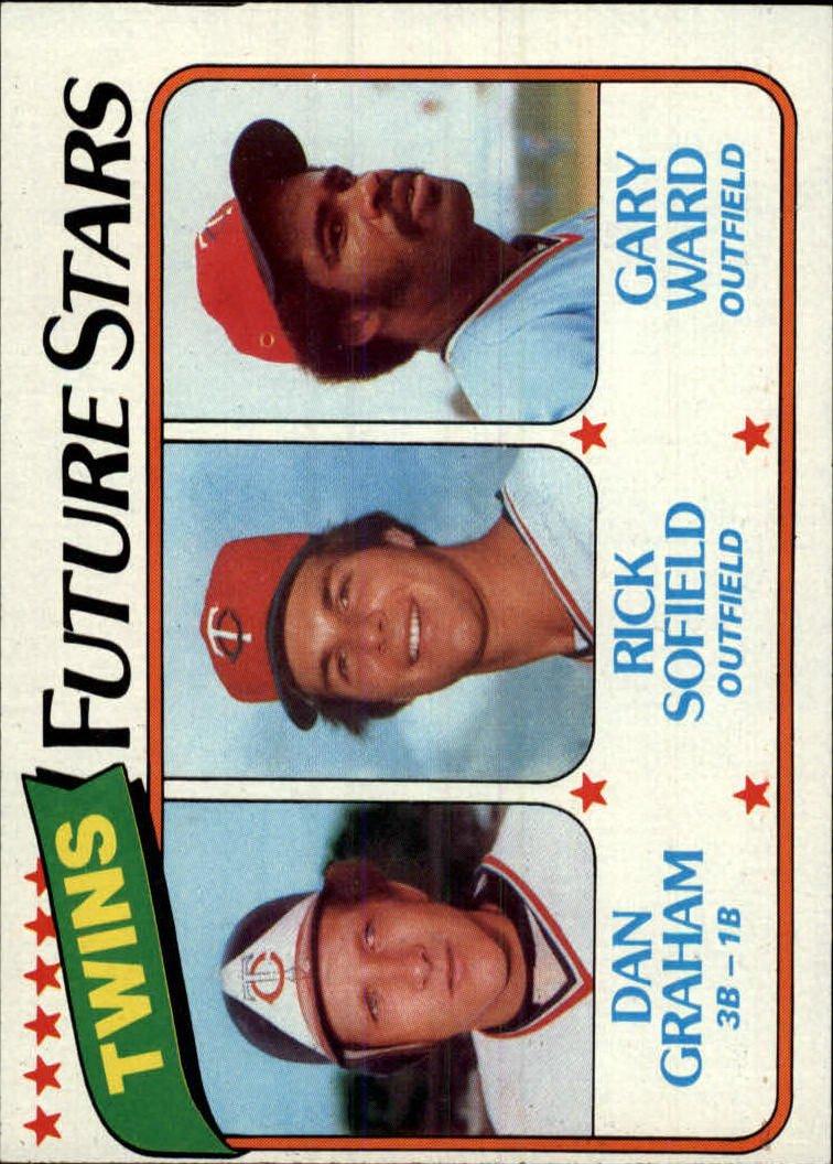 1980 Topps 669 Dan Graham RC/Rick Sofield/Gary Ward RC