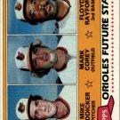 1981 Topps 399 Mike Boddicker RC/Mark Corey/Floyd Rayford RC