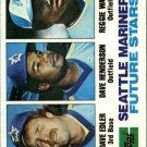 1982 Topps 711 Dave Edler/Dave Henderson RC/Reggie Walton RC