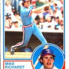 1983 Topps 371 Mike Richardt RC