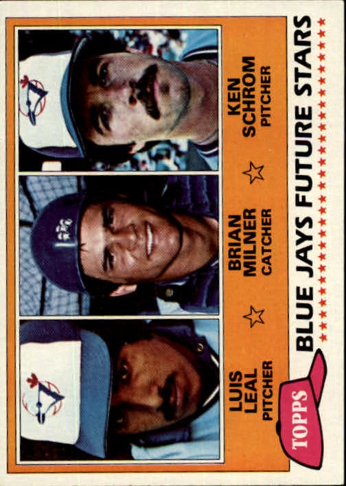 1981 Topps 577 Luis Leal RC/Brian Milner RC/Ken Schrom RC