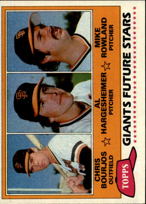 1981 Topps 502 Chris Bourjos RC/Al Hargesheimer RC/Mike Rowland RC