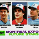 1982 Topps 118 Terry Francona RC/Brad Mills RC/Bryn Smith RC