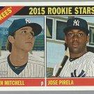 2015 Topps Heritage 234 Jose Pirela RC/Bryan Mitchell RC