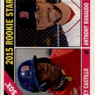 2015 Topps Heritage 356 Anthony Ranaudo RC/Rusney Castillo RC