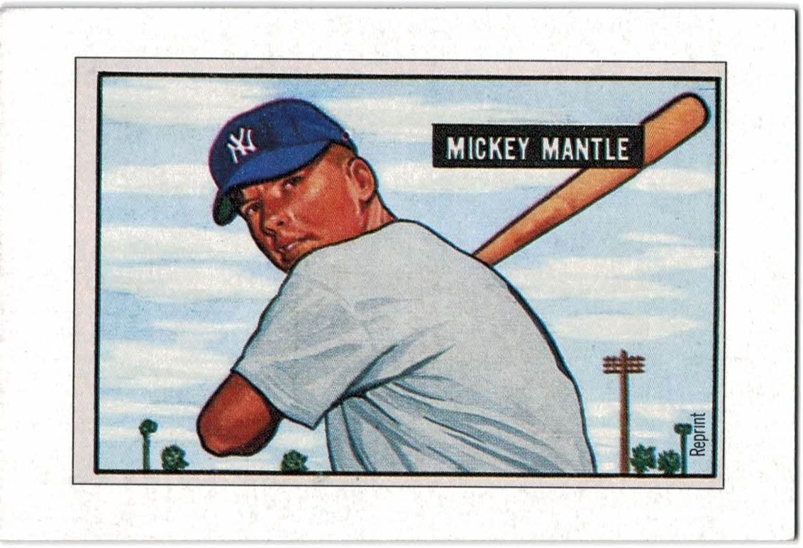 1989 Bowman Reprint Inserts 5 Mickey Mantle 51
